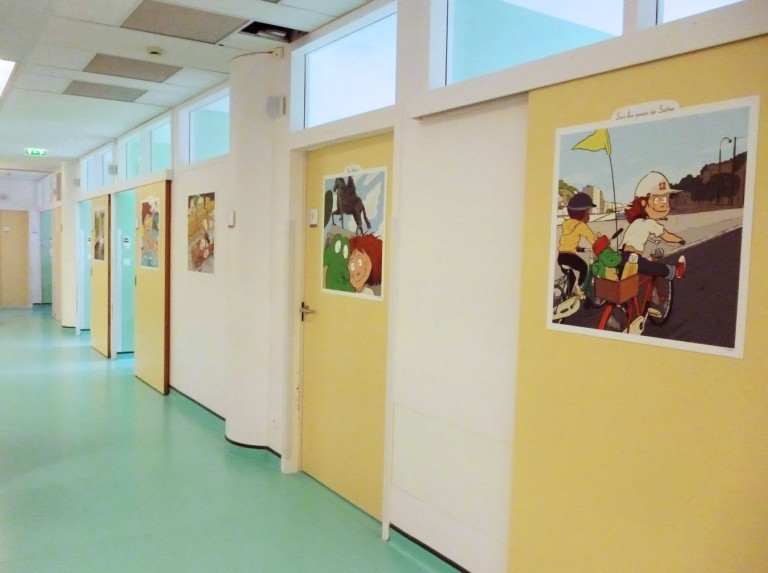 Illustrations colorées pour égayer la visite des enfants
